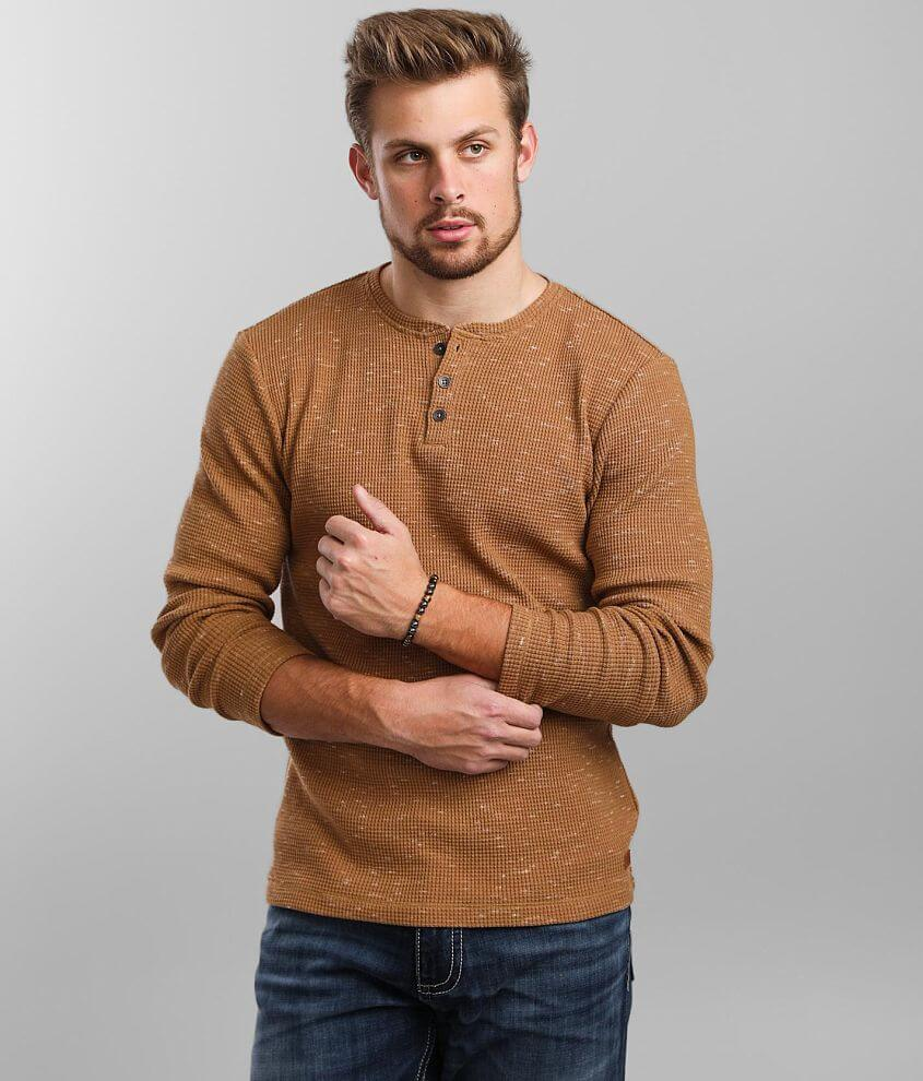 Outpost Makers Flecked Thermal Henley front view