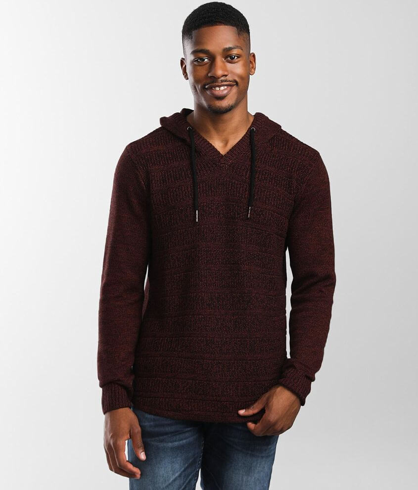 Outpost Makers Ribbed Knit Hooded Sweater front view