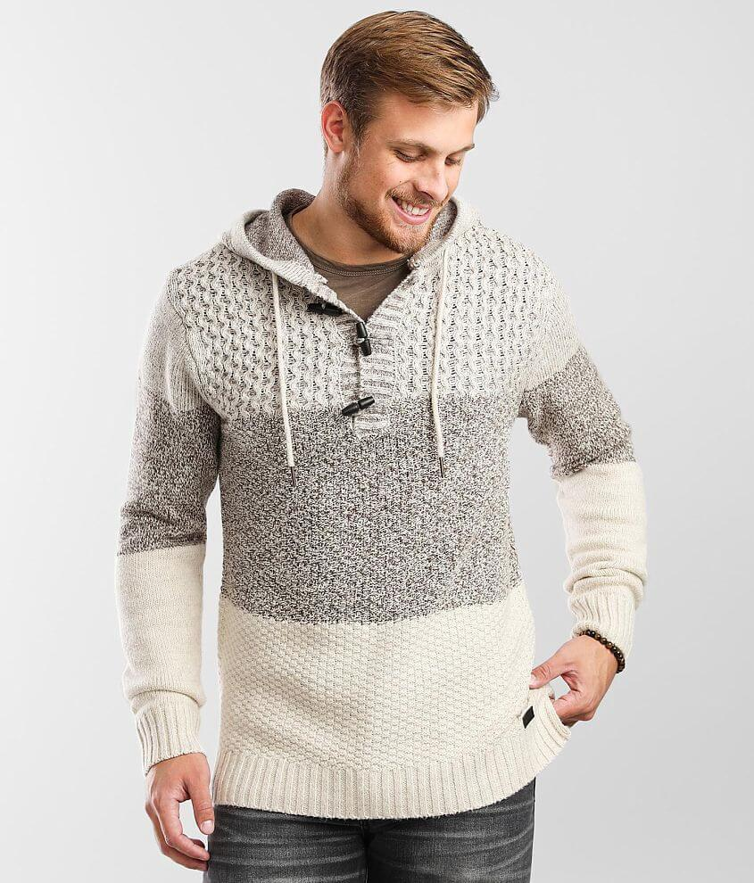 Outpost Makers Toggle Hooded Henley Sweater front view