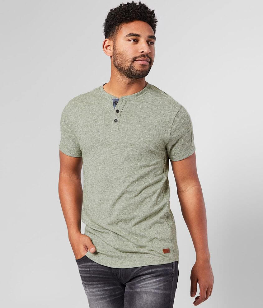 Outpost Makers Pieced Henley front view