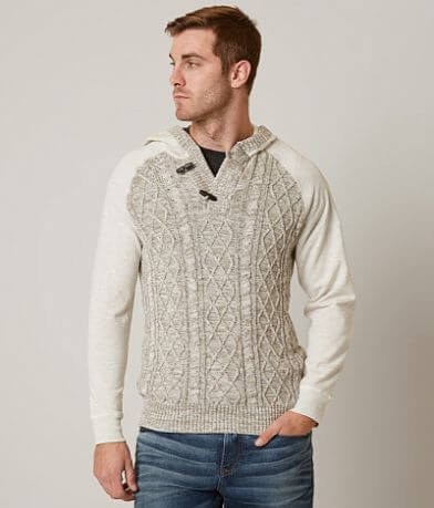 Outpost Makers Galaxy Hooded Henley Sweater