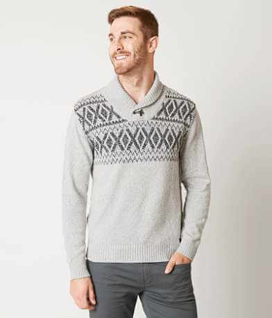 Outpost Makers Geometric Henley Sweater
