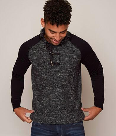 Outpost Makers Mock Neck Henley Sweater