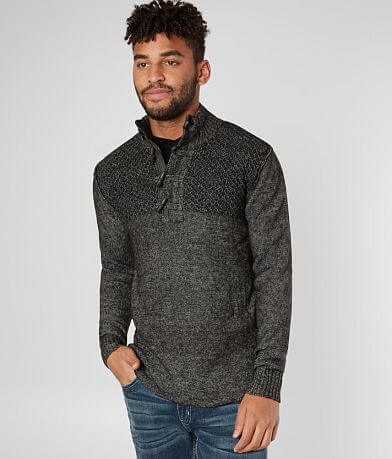 Outpost Makers Stonewash Toggle Henley Sweater