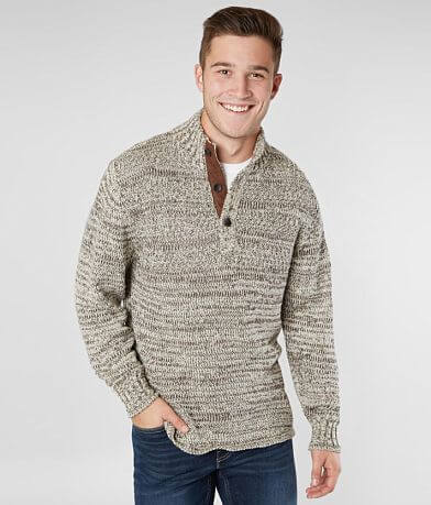 Outpost Makers Mixed Yarn Henley Sweater