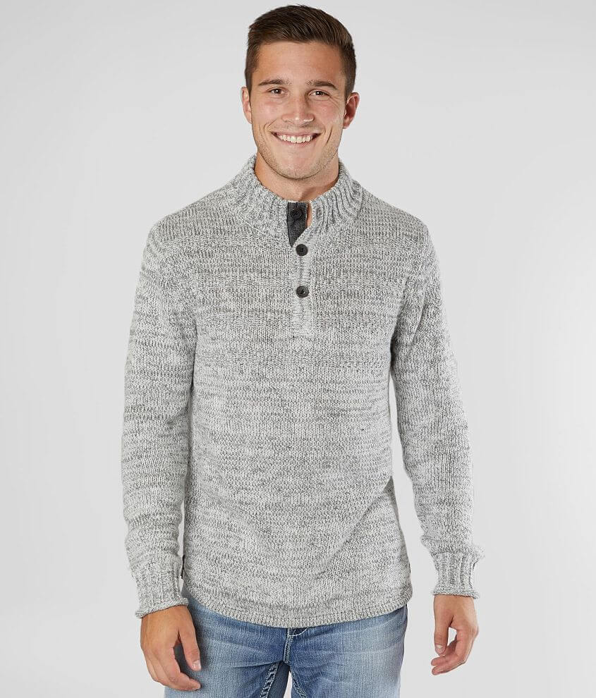 Outpost Makers Marled Henley Sweater front view