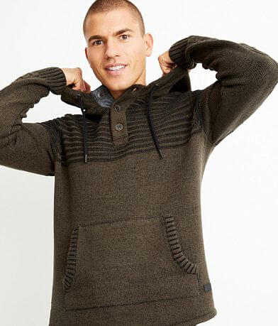 Outpost Makers Plated Hooded Henley Sweater