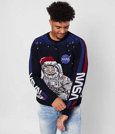 Ugly Christmas Sweater Santa NASA Sweater