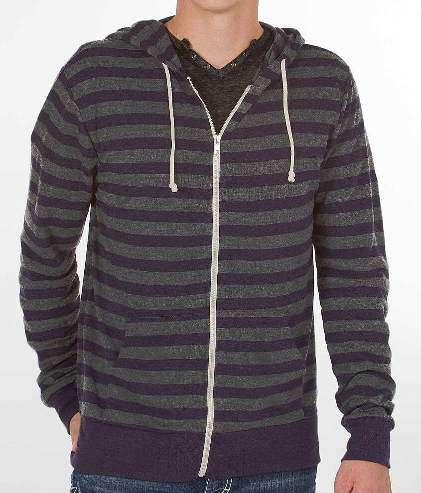 Threads 4 Thought Striped Hoodie front view