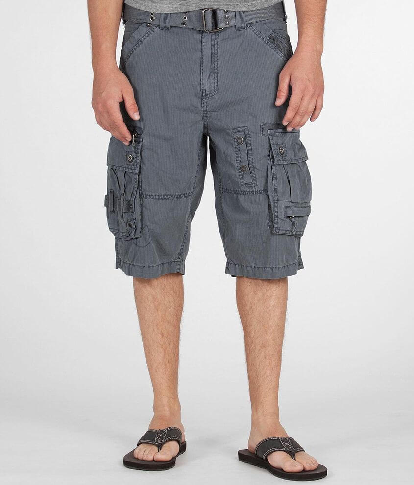 Division E Dobby Stripe Cargo Short front view