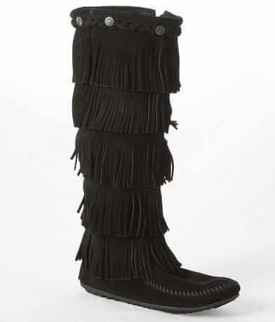 Minnetonka Fringe Moccasin Boot