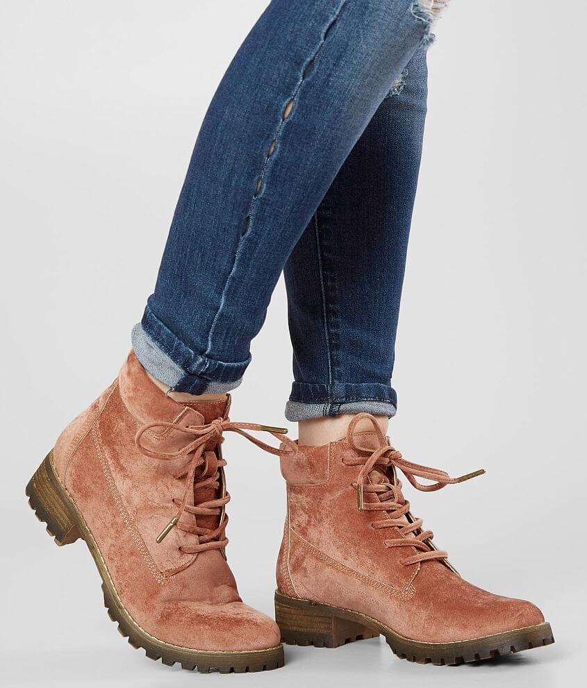 Style SUNSET/Sku 947671 Velvet lace-up boot Leather insole 5\\\