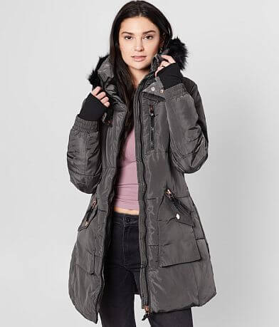 XOXO® Quilted Puffer Hooded Coat