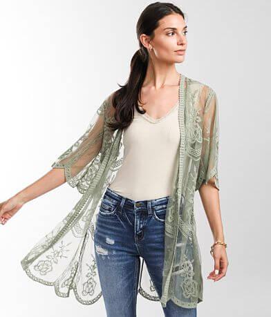 Miss Chievous Lace Mesh Kimono