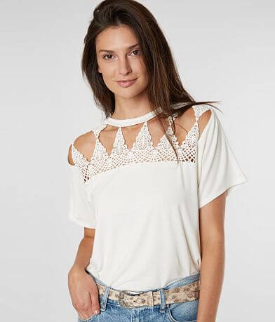 Daytrip Pieced Crochet Top