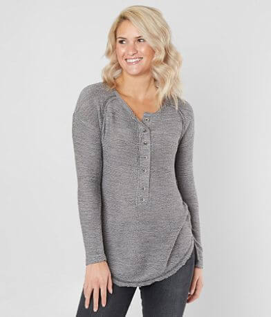 Daytrip Reverse French Terry Henley Top