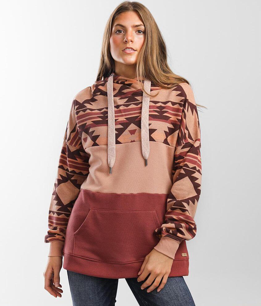 BKE Southwestern Hooded Sweatshirt front view