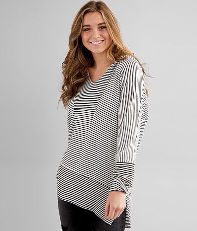 BKE Brushed Knit Tunic Hoodie