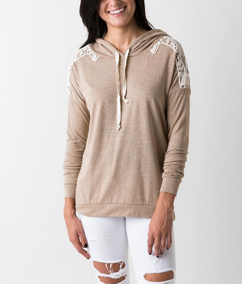 Daytrip Knit Hoodie - Women s Sweatshirts in Taupe  6ec15519a