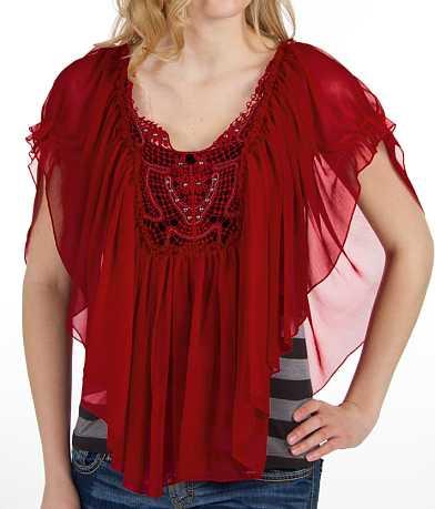 Daytrip Chiffon Overlay Shirt