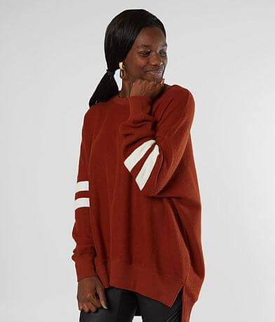 Gilded Intent Oversized Drop Shoulder Pullover