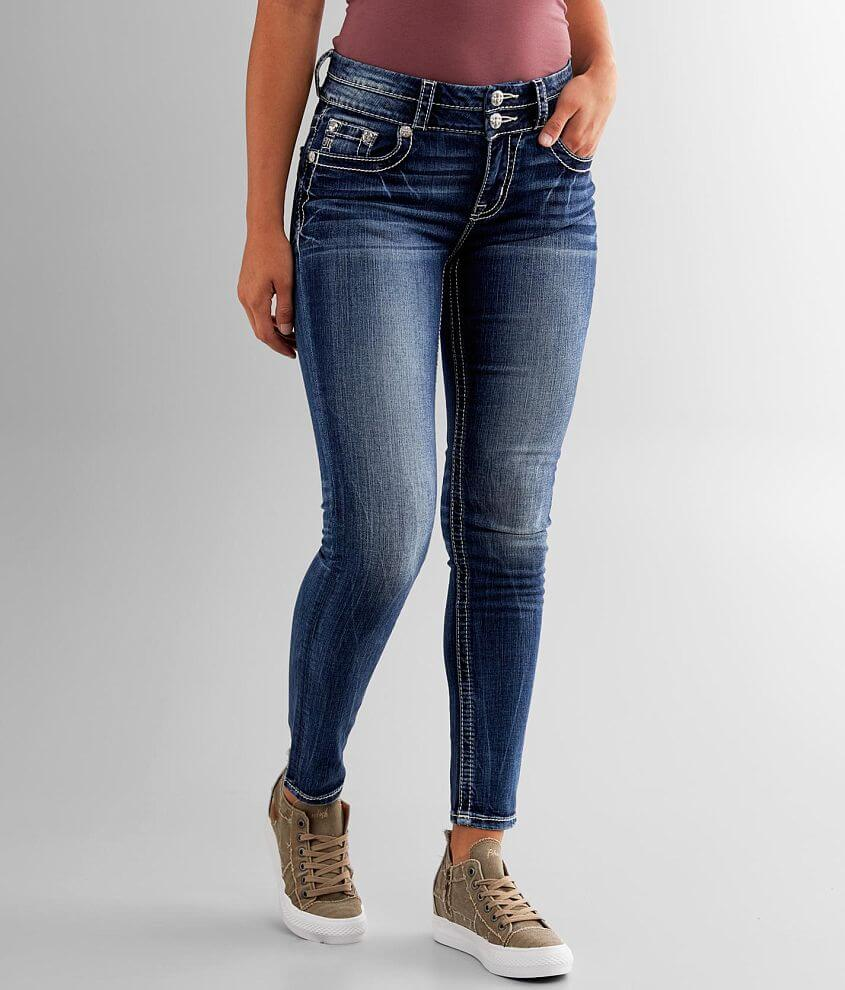 Miss Me Curvy Ankle Skinny Stretch Jean front view