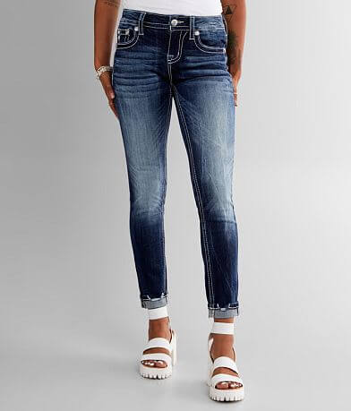Miss Me Low Rise Ankle Skinny Stretch Cuffed Jean