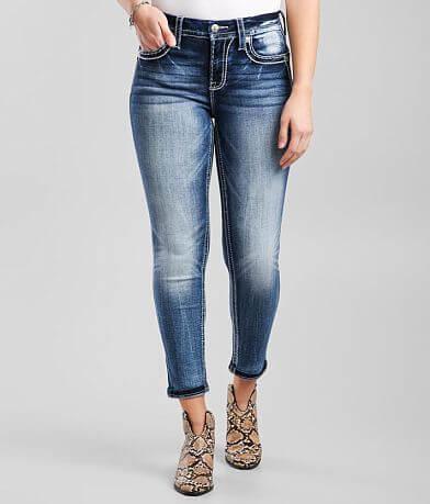 Miss Me Curvy Ankle Skinny Stretch Cuffed Jean