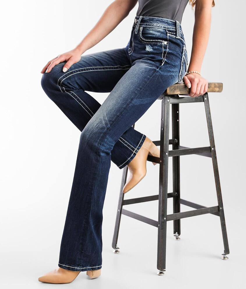 Miss Me Mid-Rise Slim Boot Stretch Jean front view