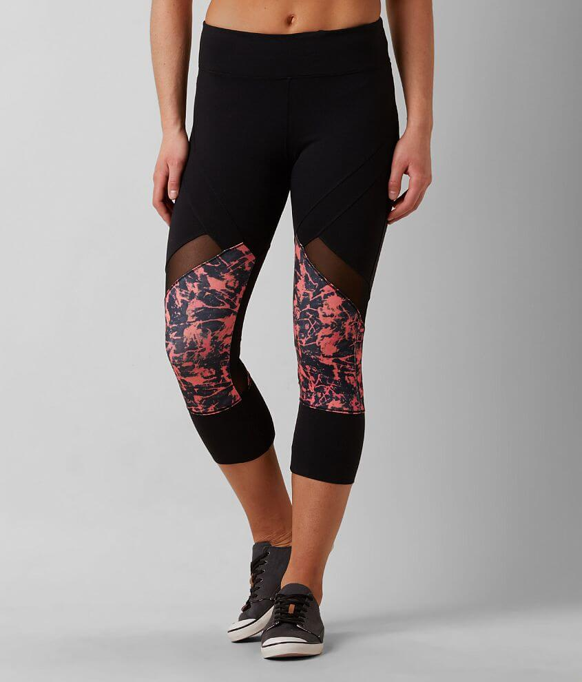 Miss Me Paint Splatter Active Tights front view