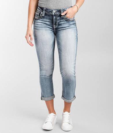 Miss Me Curvy Cuffed Stretch Cropped Jean