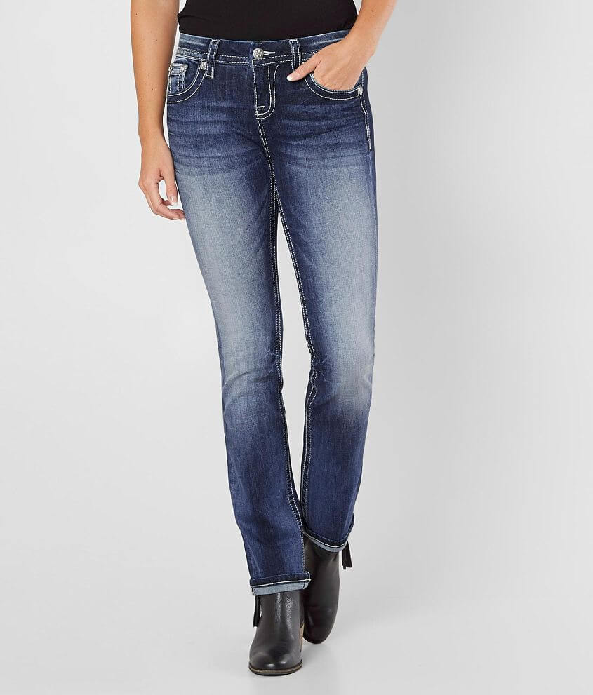 Miss Me Easy Straight Stretch Jean front view
