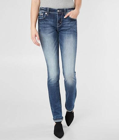 e9f1c29a7cbd Miss Me Standard Straight Stretch Cuffed Jean
