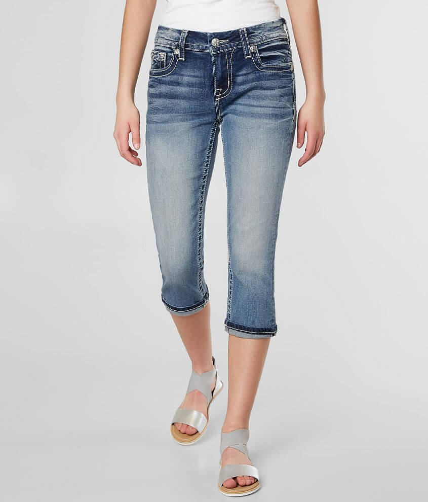 Miss Me Easy Cropped Stretch Cuffed Jean front view