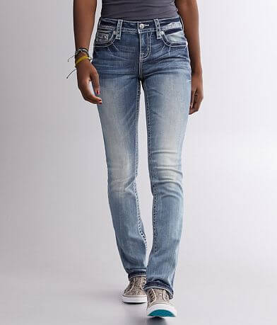 Miss Me Mid-Rise Straight Stretch Cuffed Jean