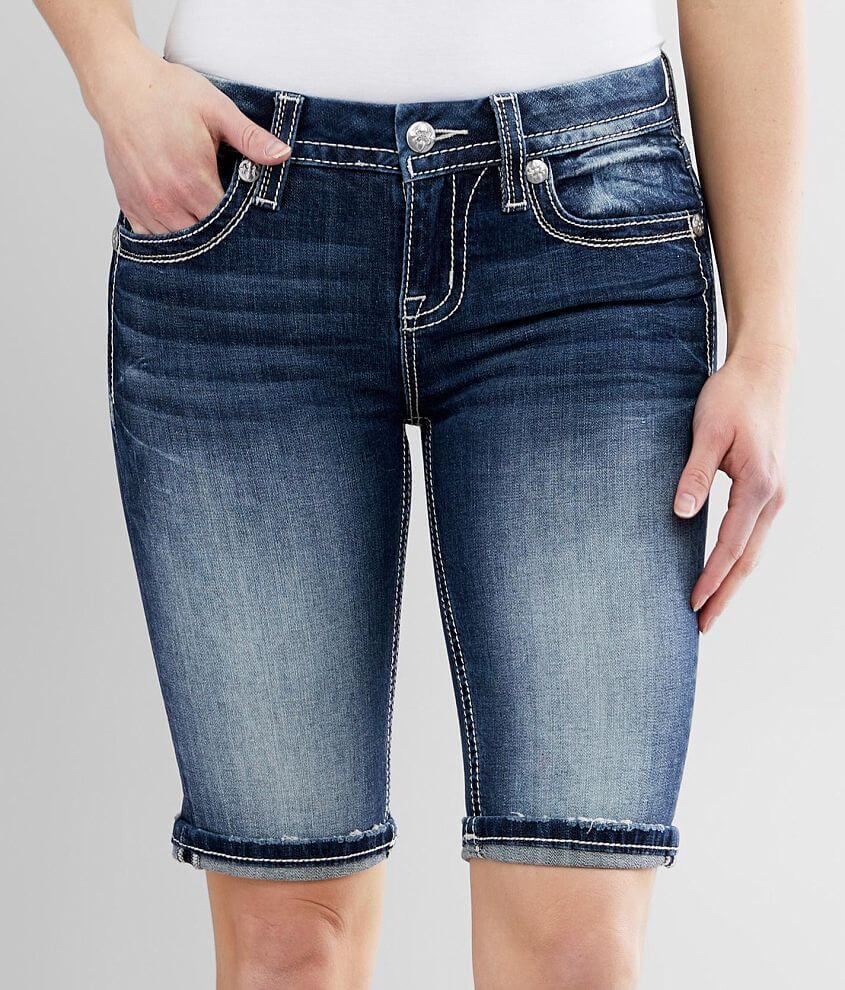 Miss Me Mid-Rise Bermuda Stretch Cuffed Short front view