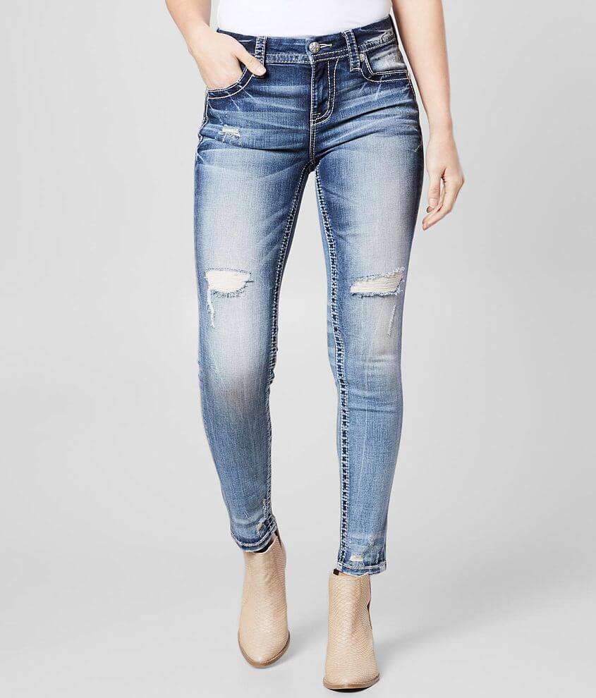 Miss Me Mid-Rise Curvy Ankle Skinny Stretch Jean front view