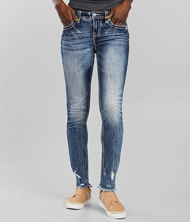 Miss Me Mid-Rise Ankle Skinny Stretch Cuffed Jean