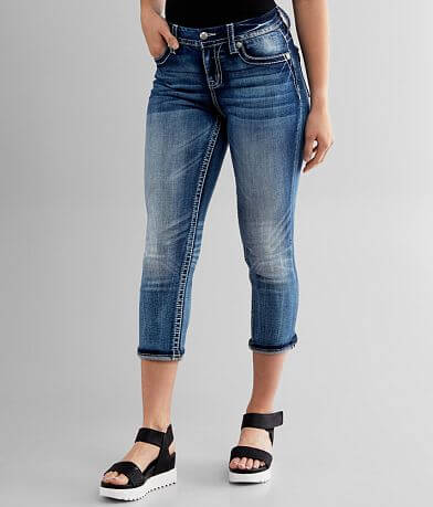 Miss Me Curvy Cuffed Stretch Cropped Jean