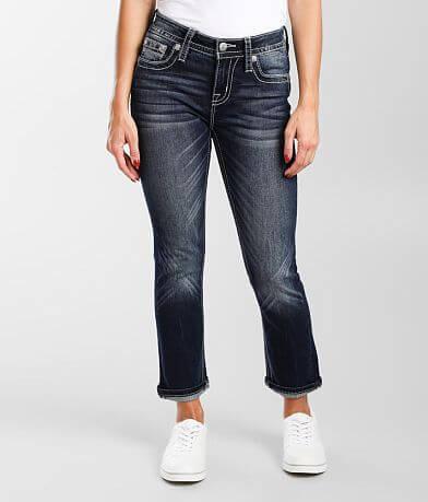 Miss Me Mid-Rise Cuffed Stretch Cropped Jean
