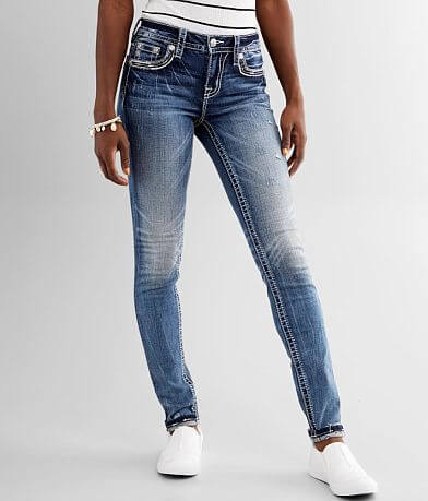Miss Me Mid-Rise Skinny Stretch Cuffed Jean