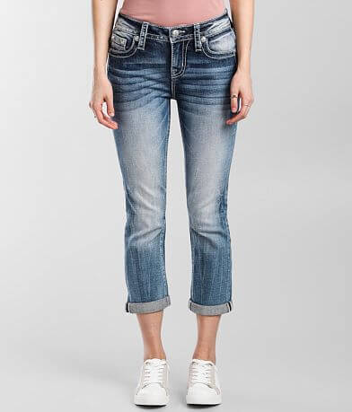 Miss Me Mid-Rise Cropped Stretch Cuffed Jean
