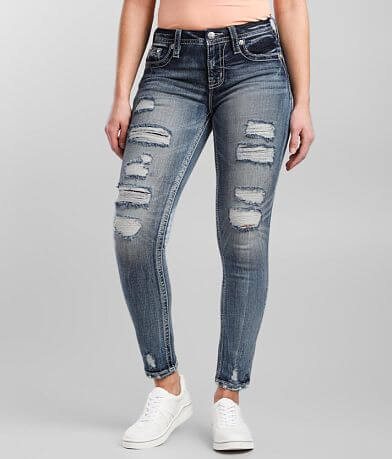 Miss Me Curvy Mid-Rise Ankle Skinny Stretch Jean