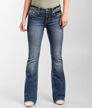Miss Me Mid-Rise Flare Stretch Jean