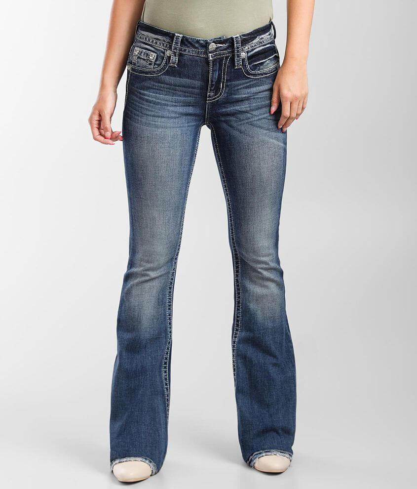 Miss Me Mid-Rise Flare Stretch Jean front view