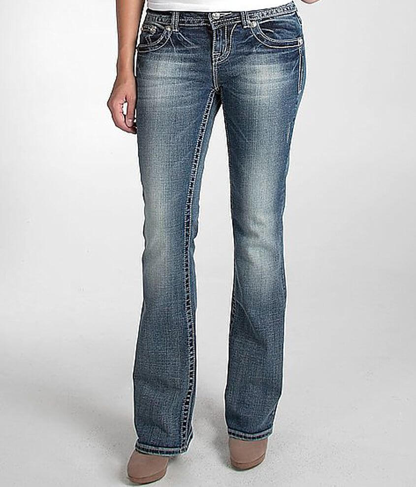 Miss Me Scroll Easy Boot Stretch Jean front view