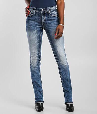 Miss Me Mid-Rise Straight Stretch Cuffed Jean