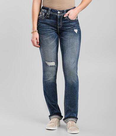 Miss Me Curvy Straight Stretch Cuffed Jean