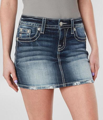 Miss Me Signature Denim Stretch Skirt