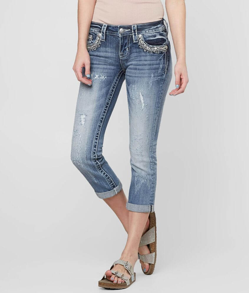 Miss Me Signature Stretch Cropped Jean front view